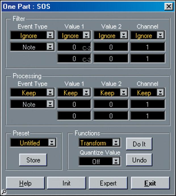 Screen 1: The Logical Edit window in Easy Mode.