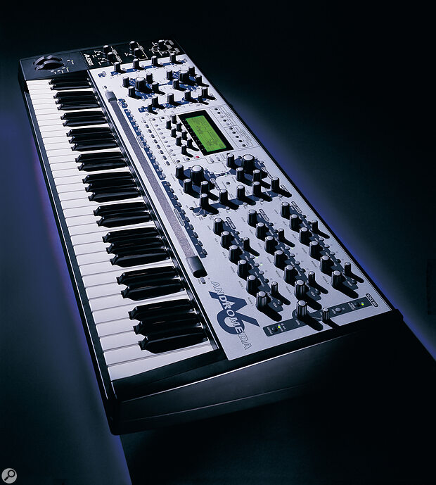 Alesis A6 Andromeda synthesizer keyboard.