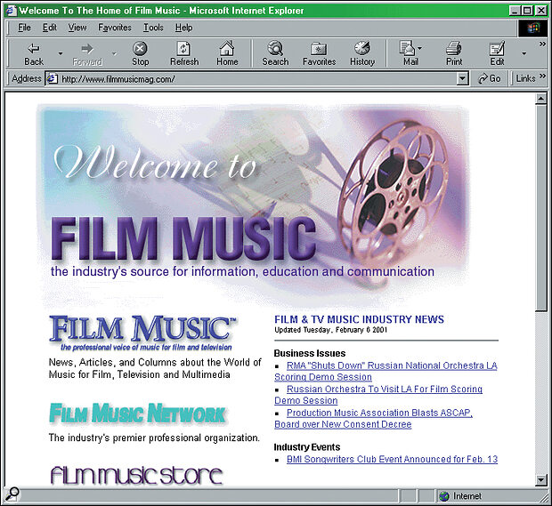 The Film Music magazine web site; soundtrack reviews and composer interviews galore.