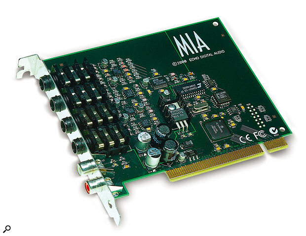 Echo's Mia soundcard offers a tempting feature set for those who don't need lots of inputs and outputs.