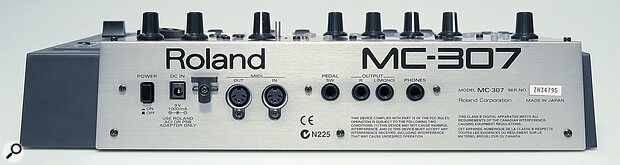 The MC307 has fewer audio outputs than the MC505, offering just a single stereo pair.