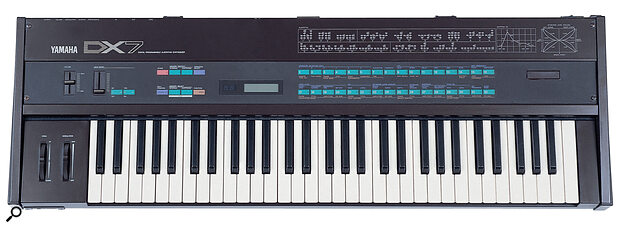 The DX7 turned synthesis on its head, offering digital operators and algorithms in place of the analogue trappings that keyboard players were so familiar with. It proved so daunting to musicians that it was largely treated as a preset machine, despite its full programmability. Our thanks to London equipment hire company John Henry's for the loan of this DX7 for photography.