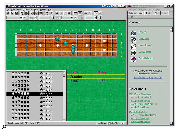 Chordwizard Guitar Chord-finding Software For PC