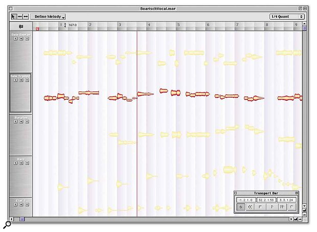The revolutionary Melodyne pitch and time manipulation software is one of a few music applications that will currently run under OSX.