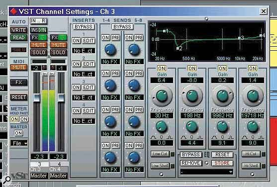 If you have enough screen space, keeping a VST Channel Settings window open all the time can be a real time‑saver, since it can be updated to display settings for whichever channel you're working on.