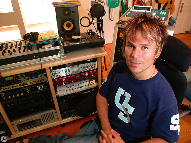 Brian 'BT' Transeau at home 2001 in his 4 Box Studio.