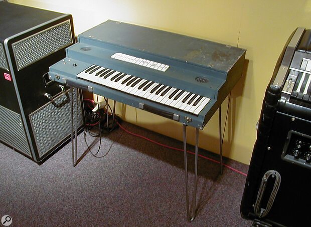 RMI's first keyboard, the Explorer, first made in the mid 1960s.