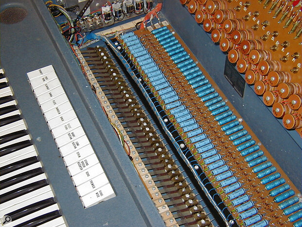 The Explorer boasted an oscillator for every single key, plus the mysterious 'Flying Hammer' system...
