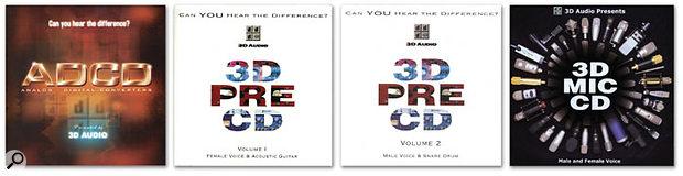 3D Audio AD, Pre, & Mic CDs