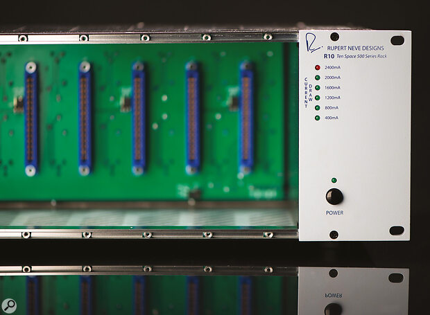 Rupert Neve Designs' racks feature ahandy current meter on the front.