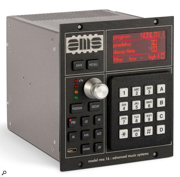 AMS's RMX16 digital reverberator.