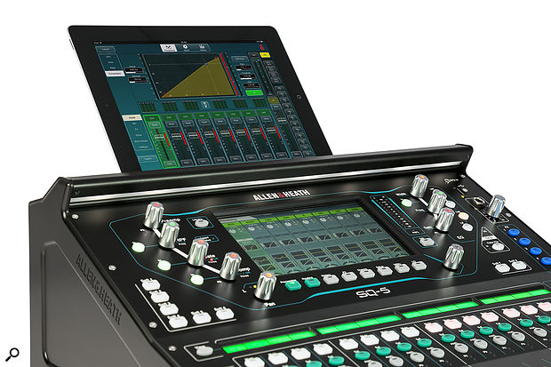 Like most modern digital mixers, the SQ series can be controlled from an app — either locally, as away of gaining an extra touchscreen, or remotely over WiFi. In the latter case, there are two apps available, for both Android and iOS. The SQ‑MixPad offers full control, while SQ4You is designed to allow personal monitor mixing.