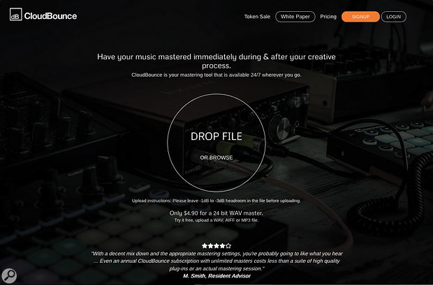 CloudBounce began as an automated mastering service, but is evolving into a more ambitious AI-assisted music production space called dBounce.