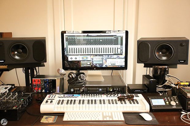 One of Ariel's two Pro Tools systems is based around UA Apollo audio interfaces with their Powered Plug-in technology, allowing him to experiment with plug-in effects at tracking.