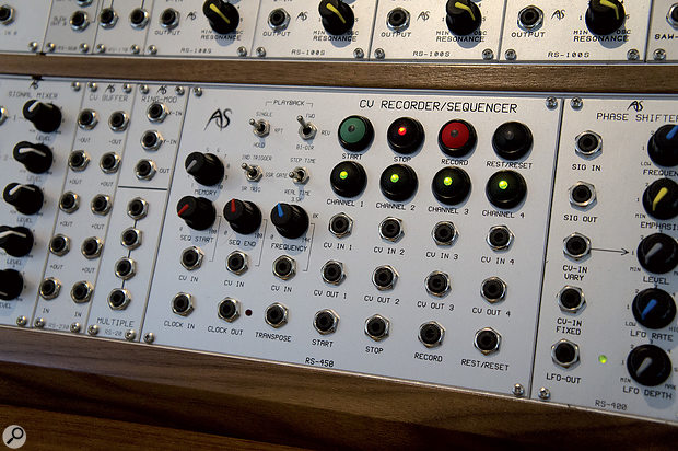 Among the more unusual modules in Analogue Systems' current range are the RS450 CV Recorder/Sequencer (above) the RS400 four-stage phaser, and the RS130 Programmable Scale Generator.