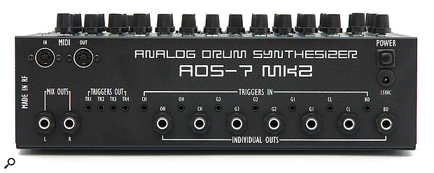 The back panel continues the theme of rugged construction and boasts a healthy array of inputs and outputs for both audio and triggers as well as offering full-fat MIDI I/O ports.