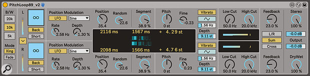 PitchLoop89 is a Max For Live Publison‑style effect and offers some slightly brutal processing.