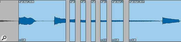 Cutting out or reversing fragments of the raw audio file creates a jarring effect that's instantly attention-grabbing.