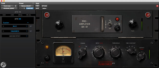 Mac Thunderboltusers can use AFX processors at mixdown within their DAWs, courtesy of the AFX2DAW plug‑in—acost option from Antelope's online store.
