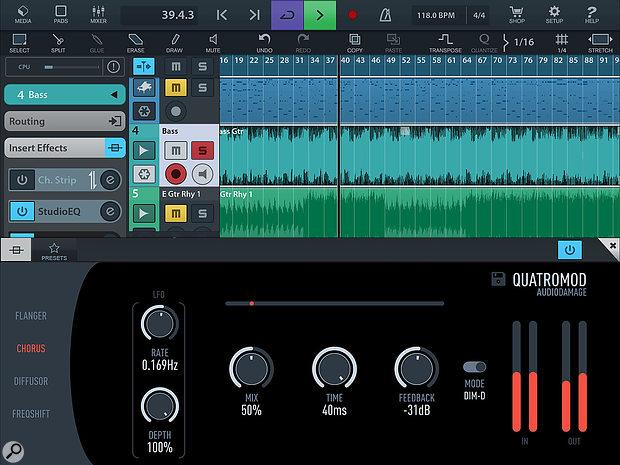 Audio Damage QuatroMod iOS app.