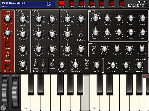 Kauldron: aversatile modelled analogue synth that also includes AU support.