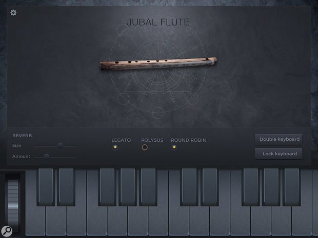Jubal Flute's subdued interface won't leave you feeling out of place in a woodland glade.