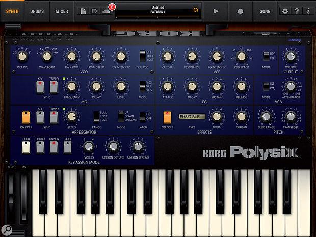 The main iPolysix screen.