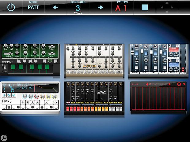 Rhythm Studio's main screen.