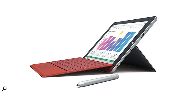 The Microsoft Surface 3 with optional Surface Pen and Type Cover.
