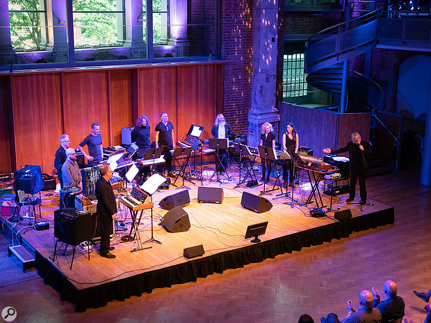 Will Gregory Moog Ensemble at LSO St Luke's in London, May 2018.