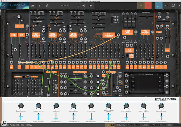 Buying any V-Collection plug-in unlocks its full user panel inside Analog Lab 2.