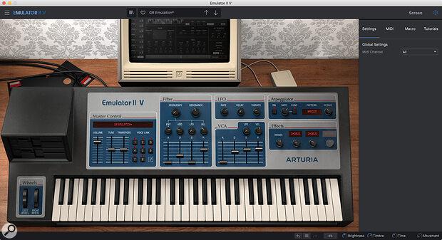 Emulator II V—considerably more portable than the original...