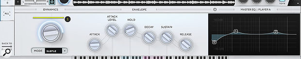 The Dynamics control is just one highlight in a comprehensive effects and modulation system.