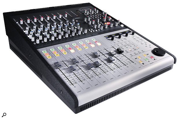 Focusrite Control 2802 analogue 32-channel mixing console with preamps and DAW control.