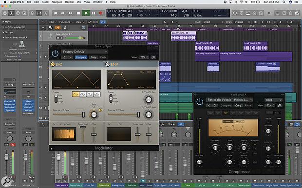 Apple Logic Pro X DAW software.