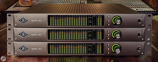 Universal Audio Apollo X interfaces.