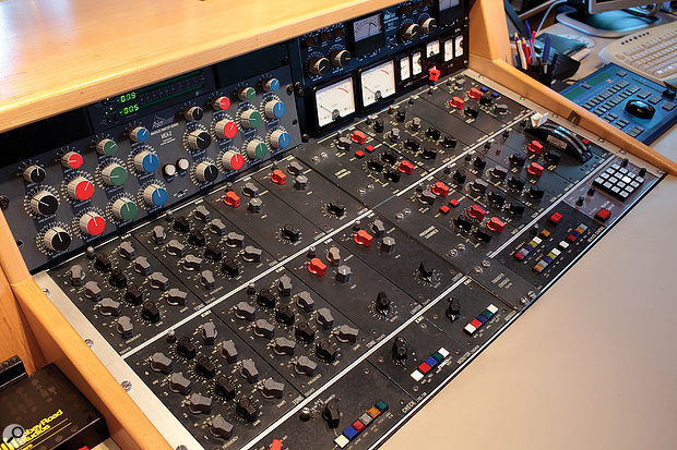 Not available in the cloud: a classic EMI mastering console at Abbey Road.