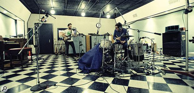The Black Keys: Dan Auerbach (left) and Patrick Carney at Auerbach's Easy Eye Studio in Nashville.