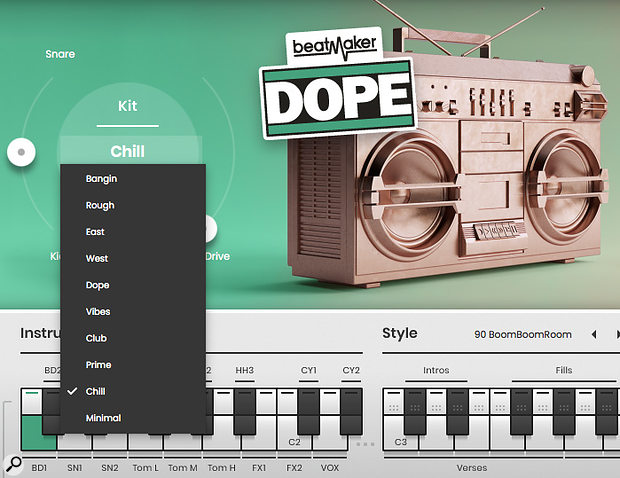 There are 10 genre-specific drum kits within each title and you can mix and match between the various kits.