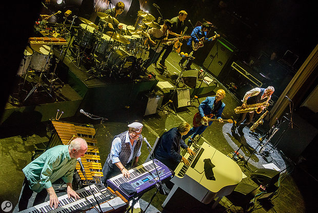 Brian Wilson band live on stage.