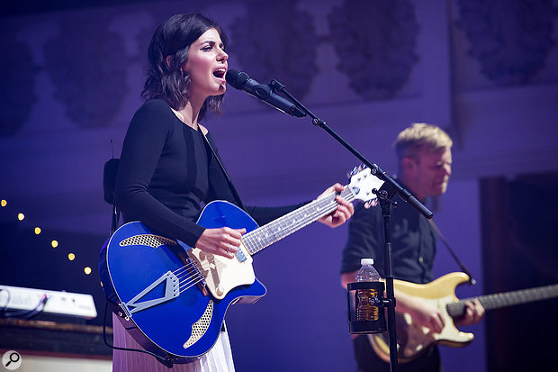 Although usually a Shure fan, Bryony opted for a DPA d:facto mic on Katie Melua's vocals.