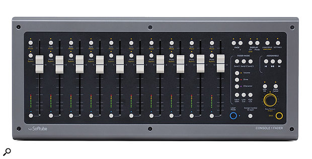 The Console1 Fader complements the original Console1, adding transport controls as well as 10 faders that can be used for many other purposes besides volume balancing.