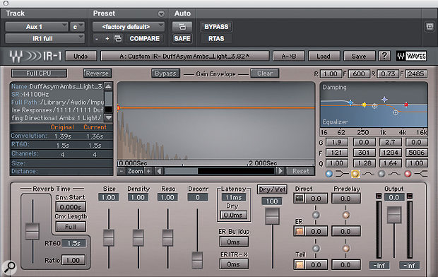 Waves' IR1 provides both static EQ and dynamic damping.