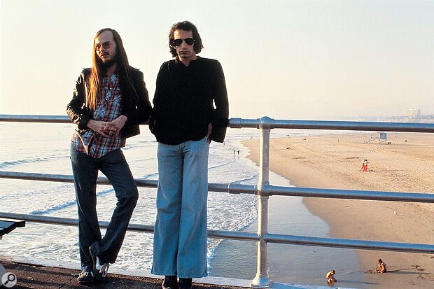 By the time Aja was released in 1977, Steely Dan consisted only of founders Walter Becker (left) and Donald Fagen.