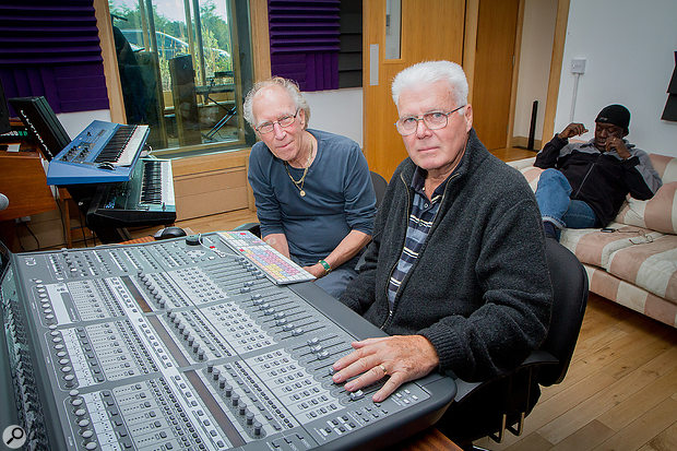 The old team reunited: producer John Schroeder (left) and engineer Alan Florence.