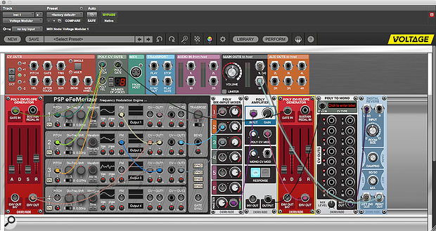 Building polyphonic patches is simple in Voltage Modular.