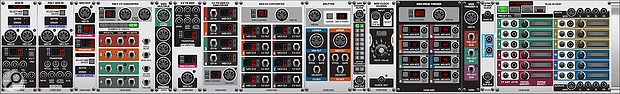 MIDI exists alongside CV in the Voltage Modular environment, with modules for converting between the two worlds.