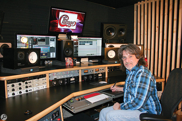 Tim Jessup in Chicago's mix room, Sedona, Arizona.