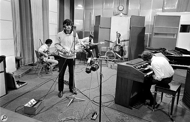 The Zombies in Abbey Road's Studio 3, June 1967.