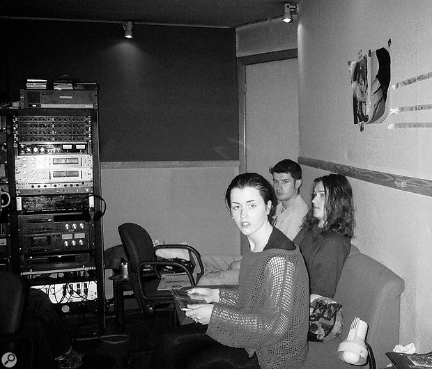 In the studio during the recording of Everybody Else Is Doing It...